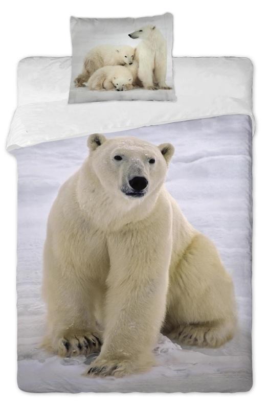 Dětské povlečení bavlna fototisk - Lední medvědi 2013