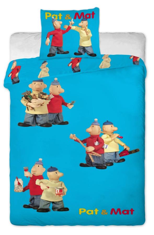 Dětské povlečení bavlna Pat a Mat modrý
