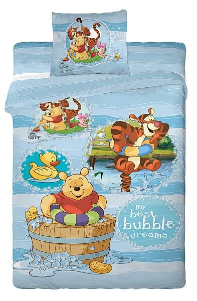 Dětské povlečení Disney - Medvídek Pů bublles