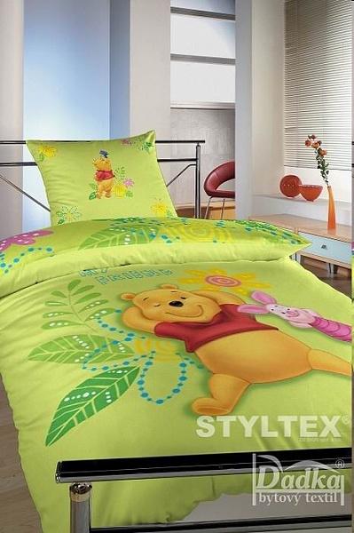 Dětské povlečení Disney - Medvídek PÚ zelený