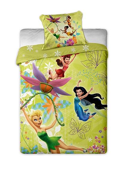 Dětské povlečení Disney mikrovlákno - Fairies yellow