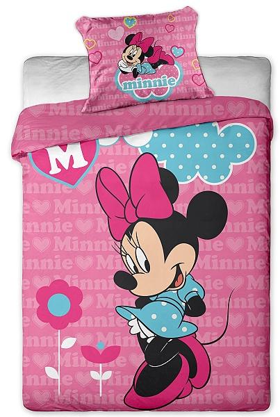 Dětské povlečení Disney mikrovlákno - Minnie pink