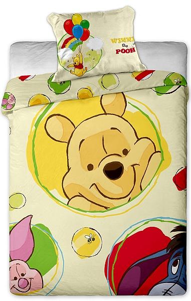 Dětské povlečení mikrovlákno Disney - Medvídek Pú  kroužky