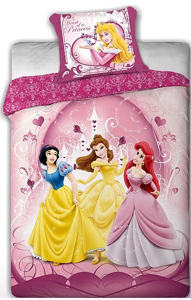 Dětské povlečení mikrovlákno Disney - Princess pink