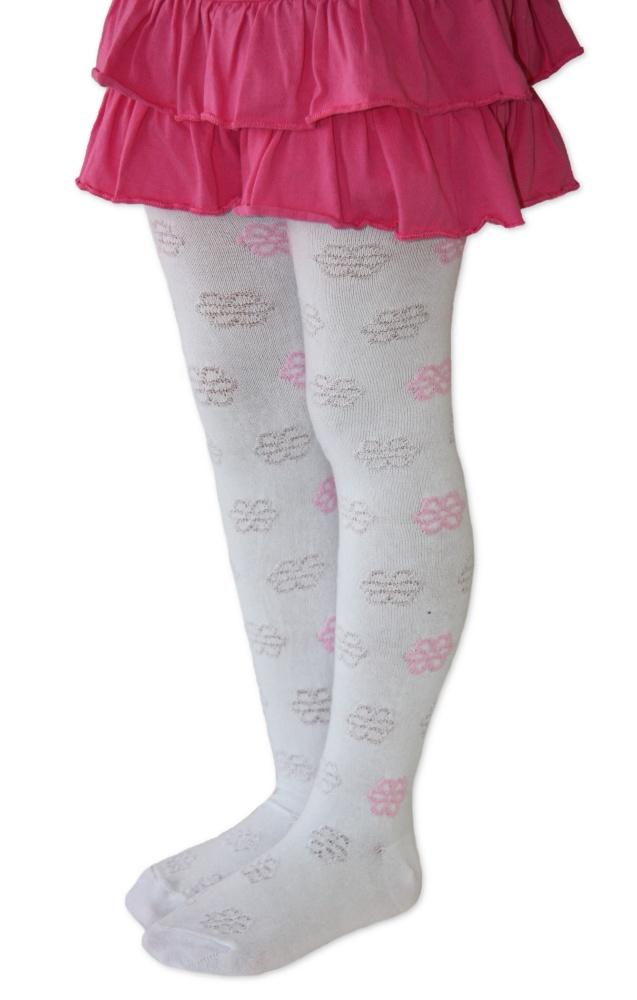 Dětské punčocháče Design Socks - květinky