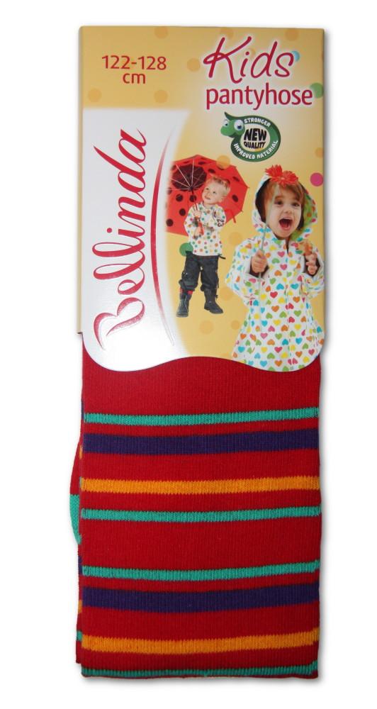Dětské punčocháčky Bellinda 496667 proužek červený - VÝPRODEJ