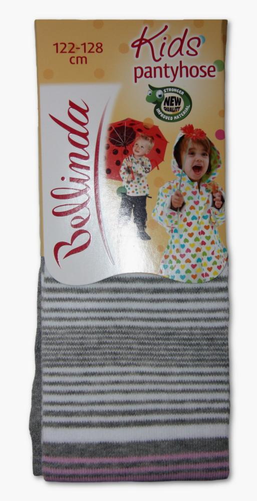 Dětské punčocháčky Bellinda 496667 proužek šedý - VÝPRODEJ