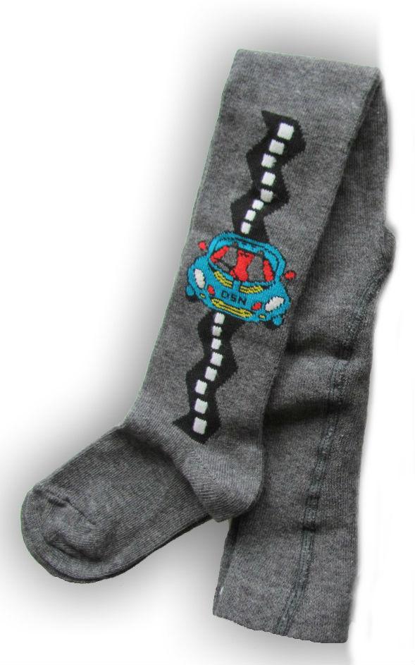Dětské punčocháčky Design Socks - autíčko