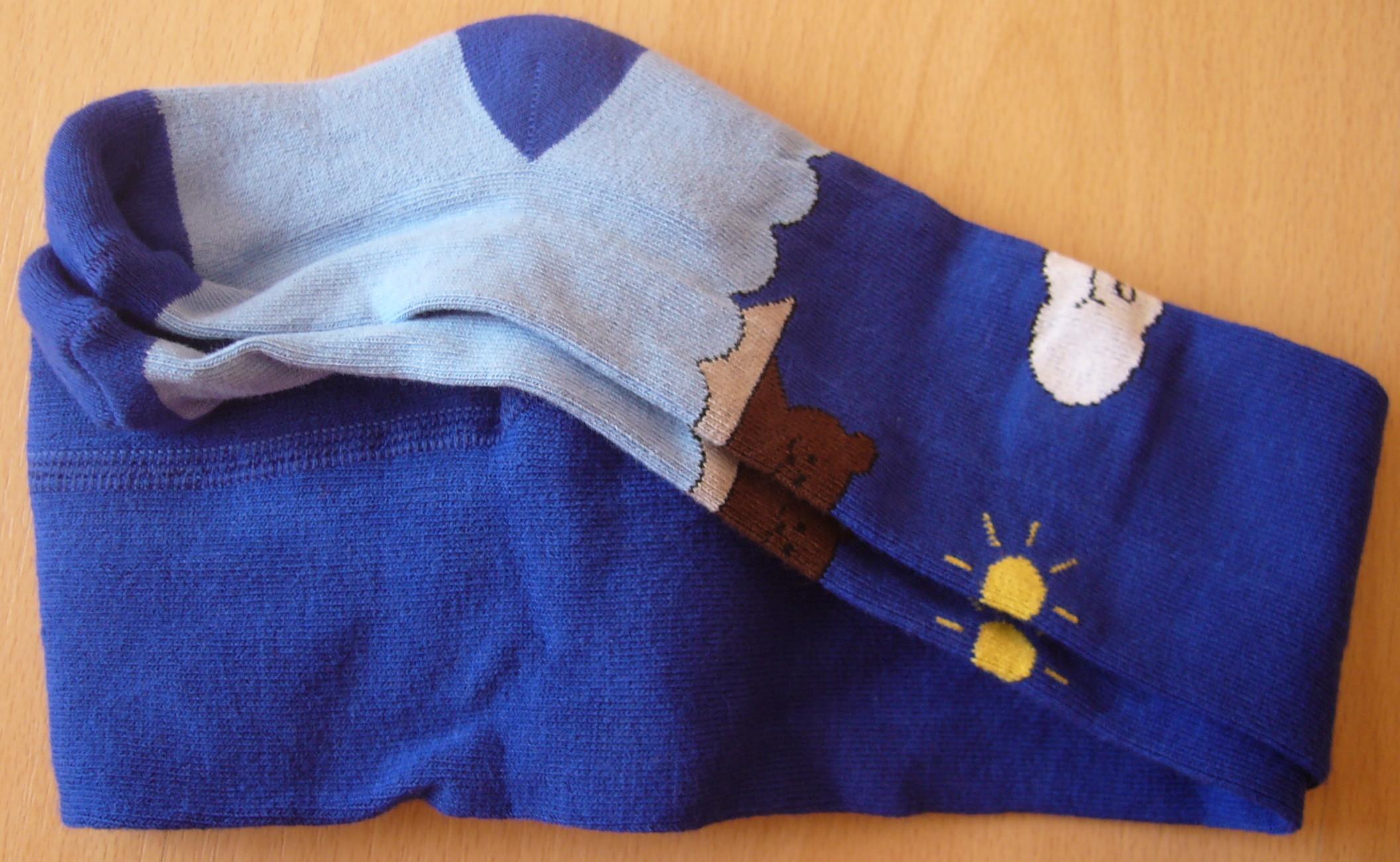 Dětské punčocháčky Dotex - froté šlapka modré - velikost 52-86