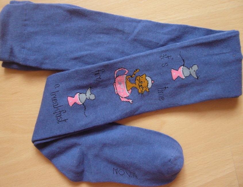 Dětské punčocháčky Novia - kočka a myši - velikost 104-134