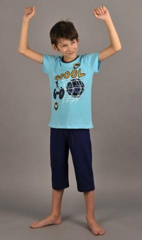 Dětské pyžamo bermudy Vienetta Secret Gól