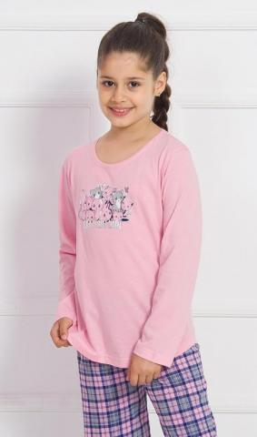 Dětské pyžamo dlouhé Vienetta Secret Crazy cat