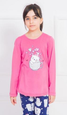 Dětské pyžamo dlouhé Vienetta  Secret Cute cats