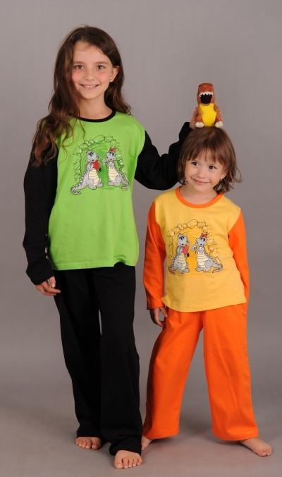 Dětské pyžamo dlouhé Dinosauři