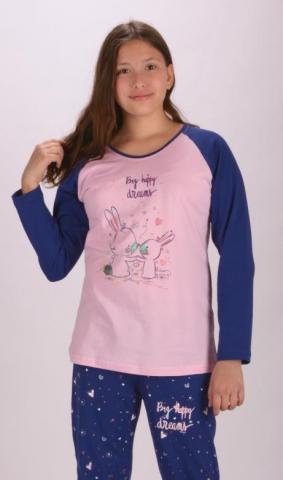 Dětské pyžamo dlouhé vienetta Secret Malí králíci