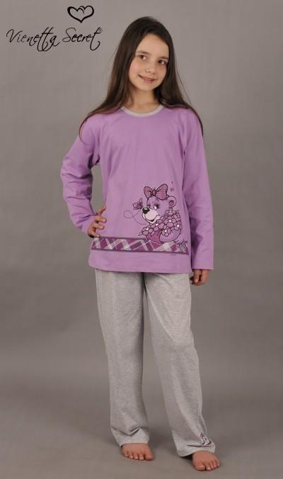 Dětské pyžamo dlouhé Medvěd s pruhem