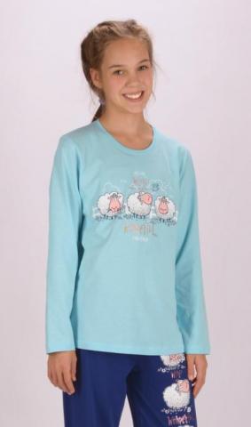 Dětské pyžamo dlouhé Vienetta Secret Ovečky
