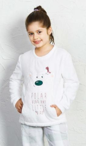 Dětské teplé dlouhé Vienetta Secret Polar bear