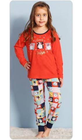 Dětské pyžamo dlouhé Vienetta Secret Vánoce