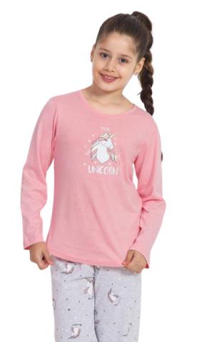 Dětské pyžamo dlouhé Vienetta Secret Jednorožci