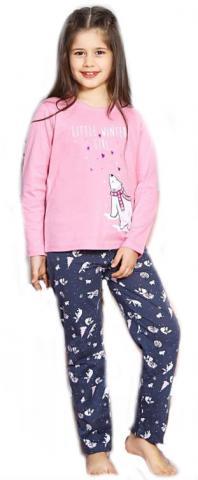 Dětské pyžamo dlouhé Vienetta Secret Lední medvěd