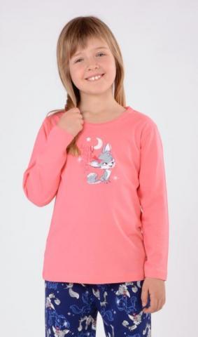 Dětské pyžamo dlouhé Vienetta Secret Liška a měsíc