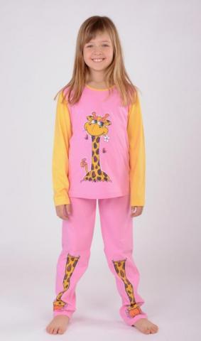 Dětské pyžamo dlouhé Vienetta Secret Malá žirafa