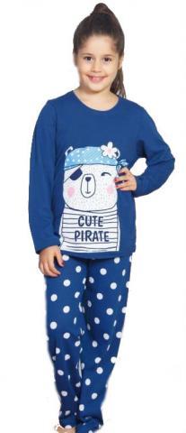 Dětské pyžamo dlouhé Vienetta Secret Méďa Pirát
