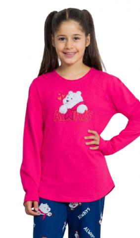 Dětské pyžamo dlouhé Vienetta Secret Méďa