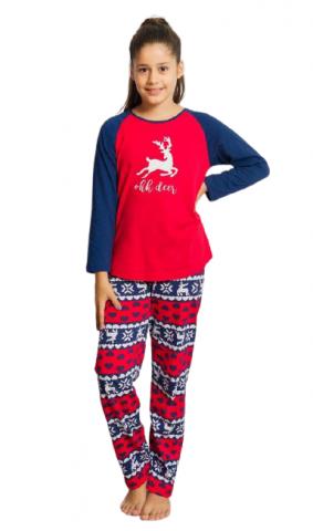 Dětské pyžamo dlouhé Vienetta Secret Ohh deer