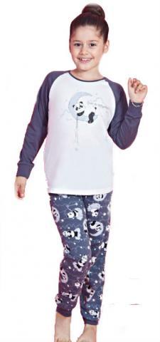 Dětské pyžamo dlouhé Vienetta Secret Panda na měsíci