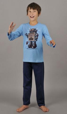 Dětské pyžamo dlouhé Vienetta Secret Robot