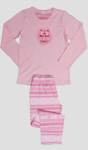 Dětské pyžamo dlouhé Vienetta Secret Sovička