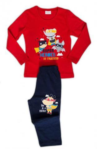 Dětské pyžamo dlouhé Vienetta Secret Superhrdinové