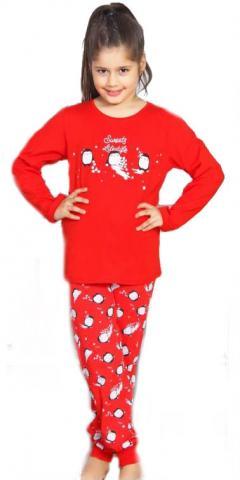 Dětské pyžamo dlouhé Vienetta Secret Tři malí tučňáci