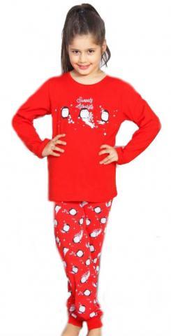 Dětské pyžamo dlouhé Vienetta Secret Tři tučňáci