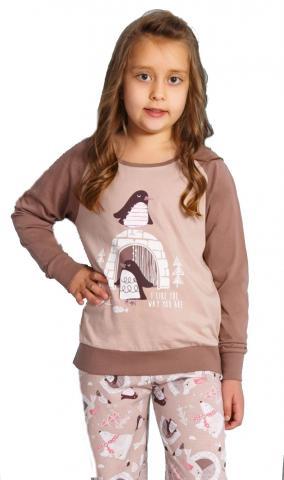 Dětské pyžamo dlouhé Vienetta Secret Tučňáci