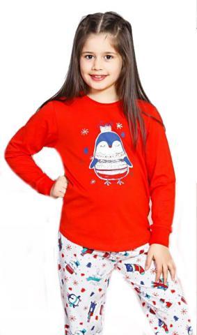 Dětské pyžamo dlouhé Vienetta Secret Tučňák malý