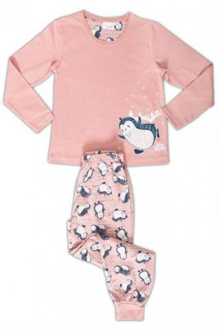 Dětské pyžamo dlouhé Vienetta Secret Tučňák na sněhu