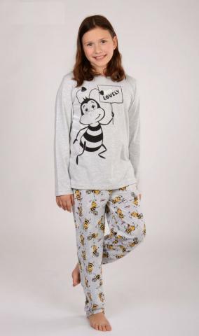 Dětské pyžamo dlouhé Vienetta Secret Včela Lovely
