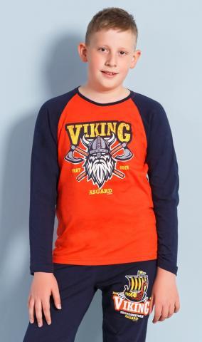 Dětské pyžamo dlouhé Vienetta Secret Viking