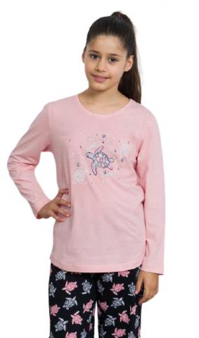 Dětské pyžamo dlouhé vienetta Secret Želva