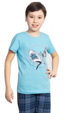 Dětské pyžamo kapri Vienetta Secret Žralok a kostlivec