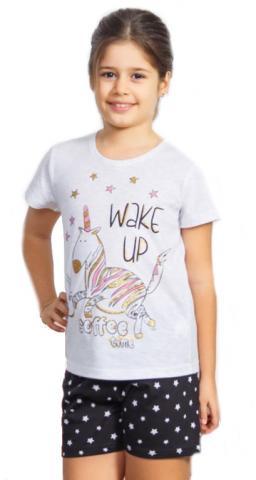 Dětské pyžamo šortky Vienetta Secret Jednorožec