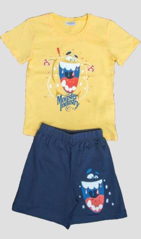 Dětské pyžamo šortky Vienetta Secret Monster