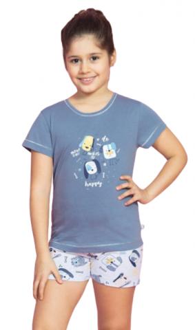 Dětské pyžamo šortky Vienetta Secret Pejsci