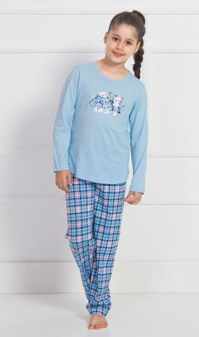 Dětské pyžamo Vienetta Secret Crazy Cat dlouhé