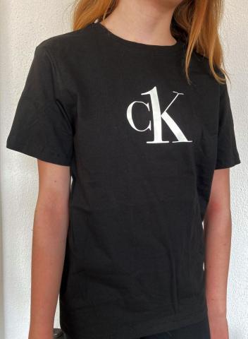 Dětské triko Calvin Klein B700327 černé