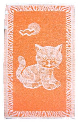 Dětský ručník Kotě oranžové