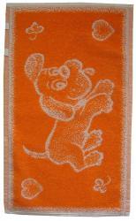 Dětský ručník Pejsek oranžový